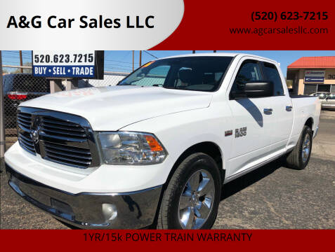 2016 RAM Ram Pickup 1500 for sale at A&G Car Sales  LLC in Tucson AZ