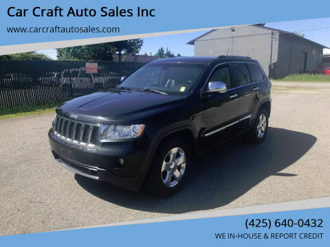 2012 Jeep Grand Cherokee for sale at Car Craft Auto Sales Inc in Lynnwood WA