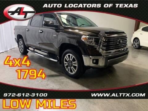 2020 Toyota Tundra for sale at AUTO LOCATORS OF TEXAS in Plano TX