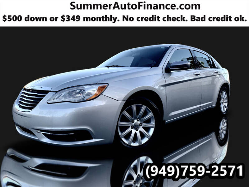 2011 Chrysler 200 for sale at SUMMER AUTO FINANCE in Costa Mesa CA