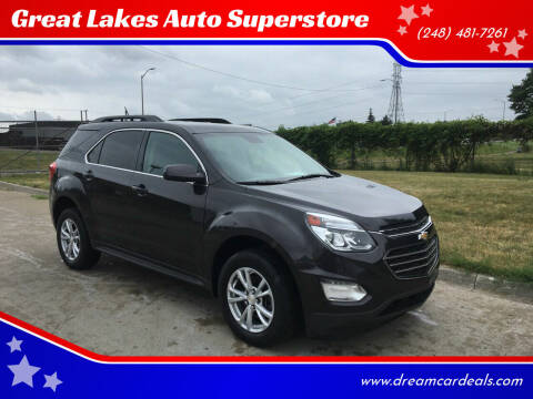 2016 Chevrolet Equinox for sale at Great Lakes Auto Superstore in Pontiac MI