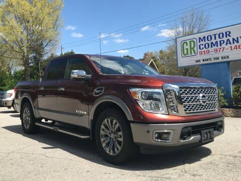 2017 Nissan Titan for sale at GR Motor Company in Garner NC