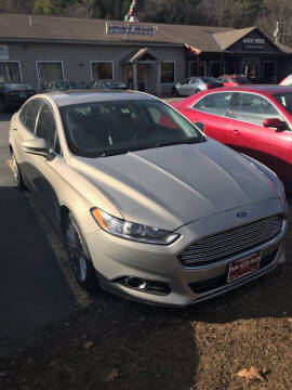 2015 Ford Fusion for sale at P & M AUTO in Springfield VT