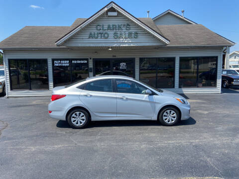 2016 Hyundai Accent for sale at Clarks Auto Sales in Middletown OH
