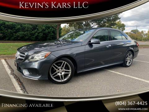 2014 Mercedes-Benz E-Class for sale at Kevin's Kars LLC in Richmond VA