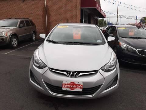 2014 Hyundai Elantra for sale at United Auto Sales of Newark in Newark NJ