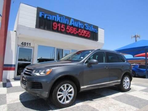 2013 Volkswagen Touareg for sale at Franklin Auto Sales in El Paso TX