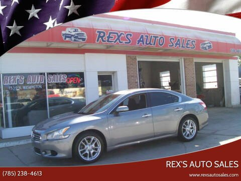 2009 Nissan Maxima for sale at Rex's Auto Sales in Junction City KS