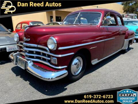 1950 Chrysler Windsor for sale at Dan Reed Autos in Escondido CA