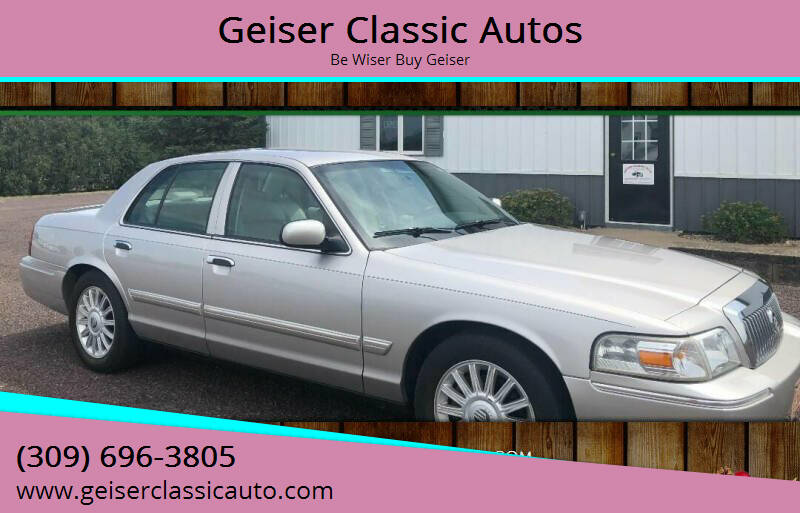 2010 Mercury Grand Marquis for sale at Geiser Classic Autos in Roanoke IL