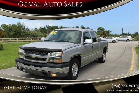 2004 Chevrolet Silverado 1500 for sale at Goval Auto Sales in Pompano Beach FL