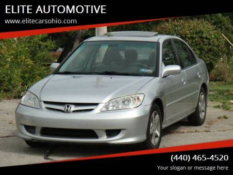 2004 Honda Civic for sale at ELITE CARS OHIO LLC in Solon OH
