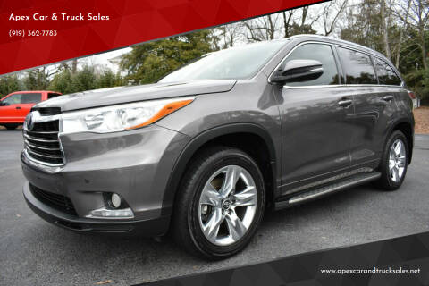 2016 Toyota Highlander for sale at Apex Car & Truck Sales in Apex NC