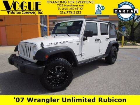 2007 Jeep Wrangler Unlimited for sale at Vogue Motor Company Inc in Saint Louis MO