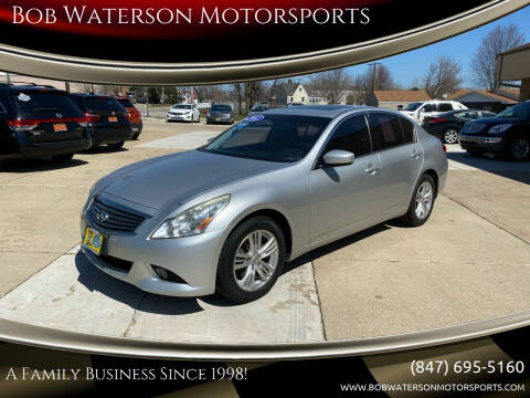 2012 Infiniti G37 Sedan for sale at Bob Waterson Motorsports in South Elgin IL