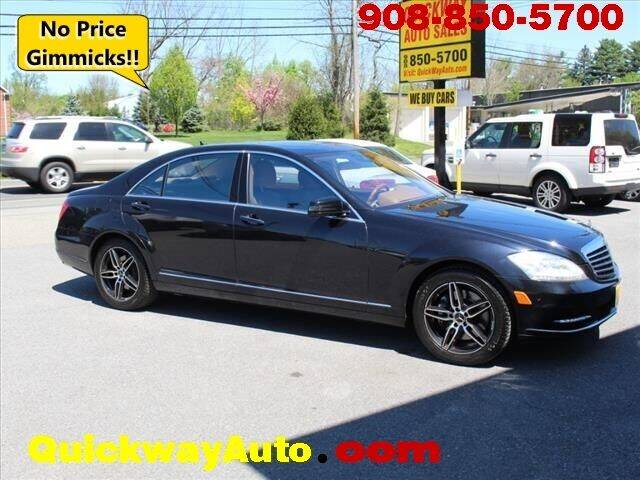 2010 Mercedes-Benz S-Class for sale at Quickway Auto Sales in Hackettstown NJ