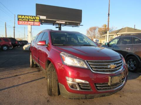 2015 Chevrolet Traverse for sale at Hanna's Auto Sales in Indianapolis IN