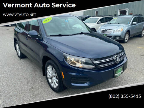 2014 Volkswagen Tiguan for sale at Vermont Auto Service in South Burlington VT