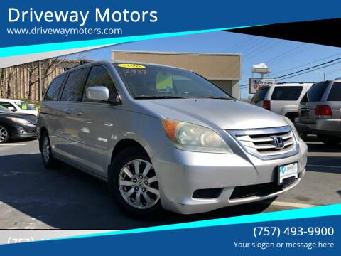 2010 Honda Odyssey for sale at Driveway Motors in Virginia Beach VA