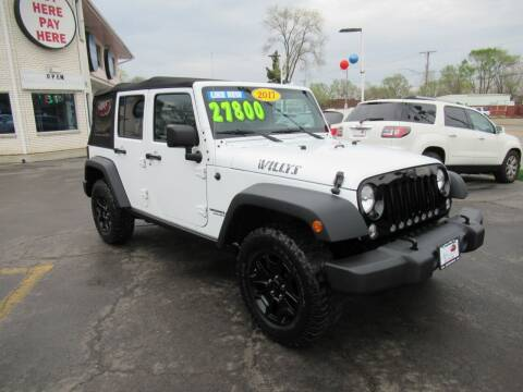 2017 Jeep Wrangler Unlimited for sale at Auto Land Inc in Crest Hill IL
