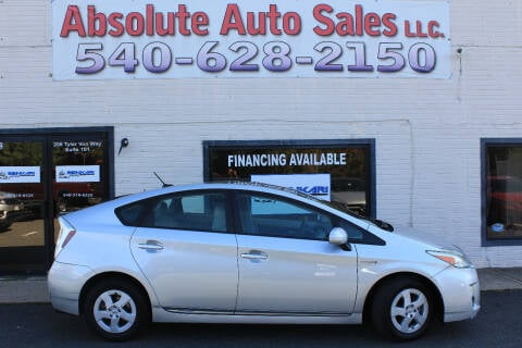 2011 Toyota Prius for sale at Absolute Auto Sales in Fredericksburg VA