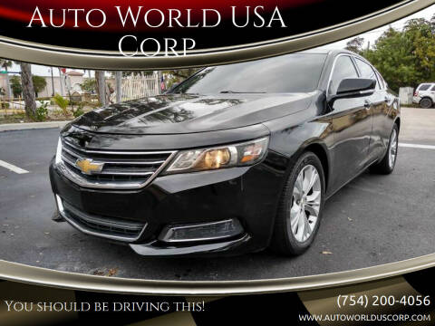 2015 Chevrolet Impala for sale at Auto World US Corp in Plantation FL