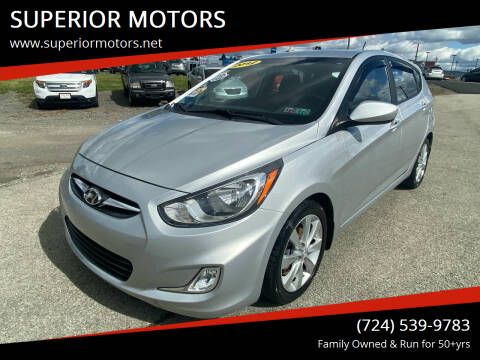 2012 Hyundai Accent for sale at SUPERIOR MOTORS in Latrobe PA
