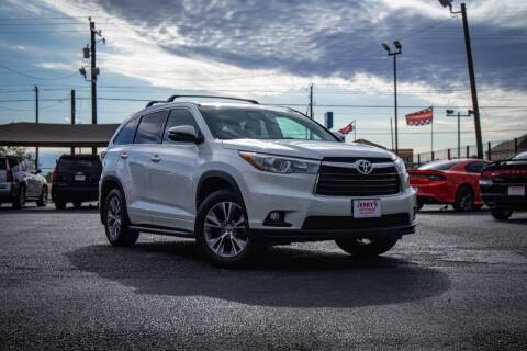 2015 Toyota Highlander for sale at Jerrys Auto Sales in San Benito TX