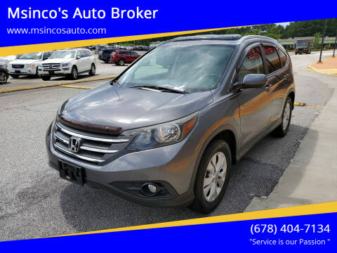 2012 Honda CR-V for sale at Msinco's Auto Broker in Snellville GA
