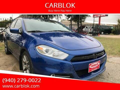 2013 Dodge Dart for sale at CARBLOK in Lewisville TX