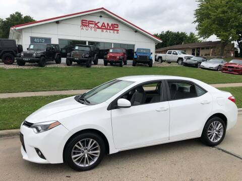 2014 Toyota Corolla for sale at Efkamp Auto Sales LLC in Des Moines IA