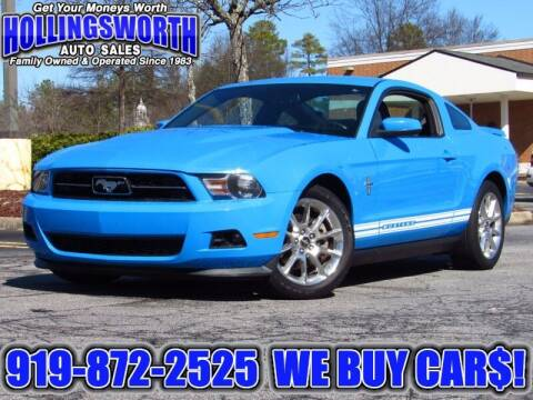 2011 Ford Mustang for sale at Hollingsworth Auto Sales in Raleigh NC