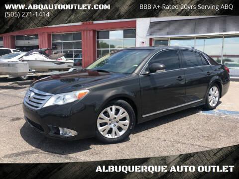 2011 Toyota Avalon for sale at ALBUQUERQUE AUTO OUTLET in Albuquerque NM