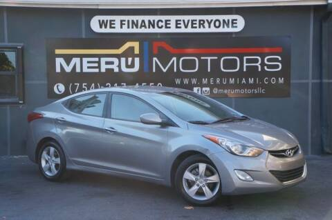 2012 Hyundai Elantra for sale at Meru Motors in Hollywood FL
