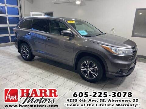 2016 Toyota Highlander for sale at Harr's Redfield Ford in Redfield SD