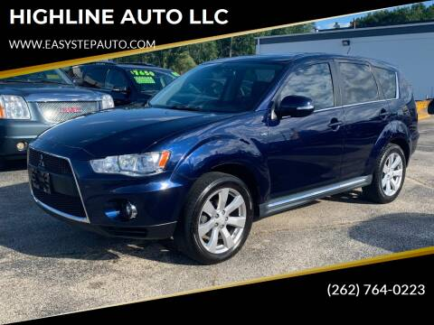 2011 Mitsubishi Outlander for sale at HIGHLINE AUTO LLC in Kenosha WI