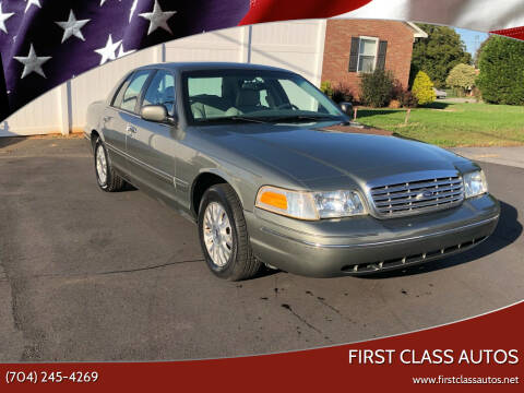 2003 Ford Crown Victoria for sale at First Class Autos in Maiden NC