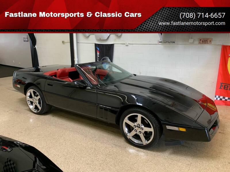 1990 Chevrolet Corvette for sale at Fastlane Motorsports & Classic Cars in Addison IL