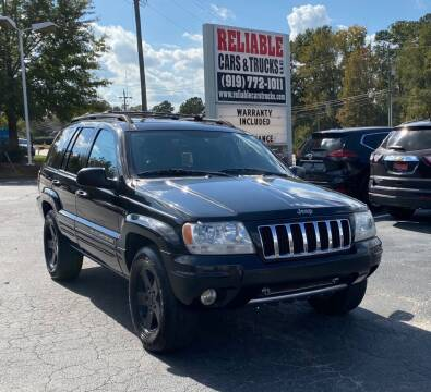 2004 Jeep Grand Cherokee for sale at Reliable Cars & Trucks LLC in Raleigh NC
