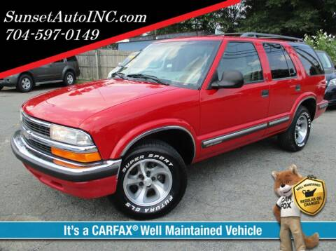 1998 Chevrolet Blazer for sale at Sunset Auto in Charlotte NC
