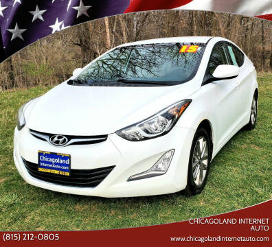 2015 Hyundai Elantra for sale at Chicagoland Internet Auto - 410 N Vine St New Lenox IL, 60451 in New Lenox IL