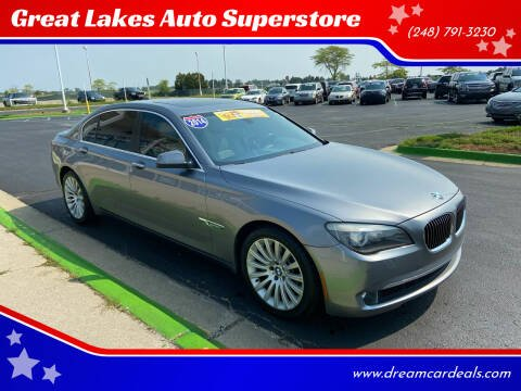 2012 BMW 7 Series for sale at Great Lakes Auto Superstore in Waterford Township MI