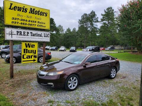 2012 Acura TL for sale at Lewis Motors LLC in Deridder LA