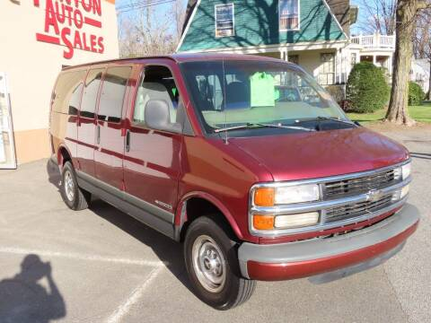 1999 Chevrolet Express Passenger for sale at FENTON AUTO SALES in Westfield MA