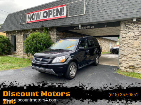 2003 Honda Pilot for sale at Discount Motors Inc in Old Hickory TN
