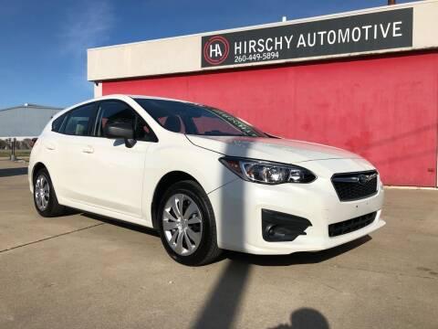 2017 Subaru Impreza for sale at Hirschy Automotive in Fort Wayne IN