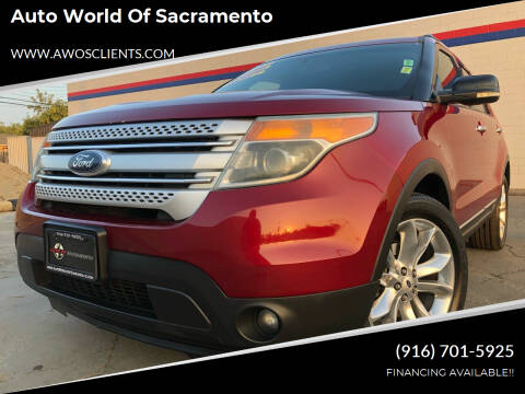 2013 Ford Explorer for sale at Auto World of Sacramento Stockton Blvd in Sacramento CA