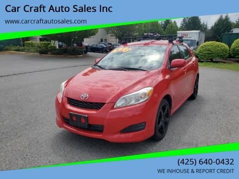 2009 Toyota Matrix for sale at Car Craft Auto Sales Inc in Lynnwood WA