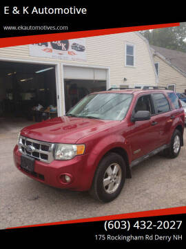 2008 Ford Escape for sale at E & K Automotive in Derry NH