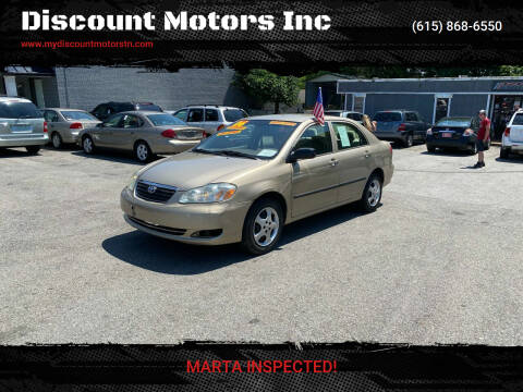 2006 Toyota Corolla for sale at Discount Motors Inc in Madison TN